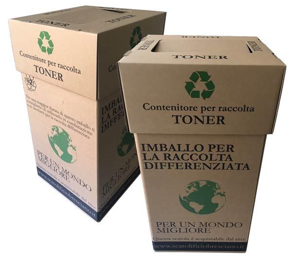 Scatola cartone per raccolta differenziata toner